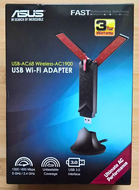 华硕USB-AC68无线网卡 -- 一只大鸟