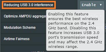 """科普啦!为什么华硕路由器要提供""""降低USB3.0干扰""""功能"""
